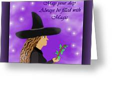 Blessed Samhain Witch Greeting Card