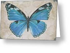 Bleu Papillon-b Greeting Card