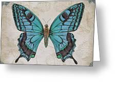 Bleu Papillon-c Greeting Card