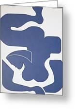 Bleu Sensation Greeting Card