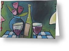 Blind Date With Wine Greeting Card