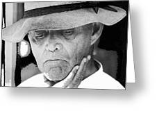 Blind Man Juarez Chihuahua Mexico 1968 Greeting Card