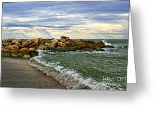 Blind Pass Storm Rocks - Captiva  Greeting Card