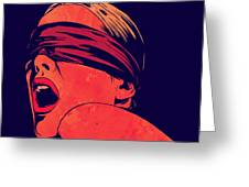 Blindfolded Greeting Card by Giuseppe Cristiano