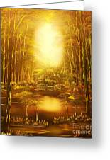 Blinding Light-original Sold-buy Giclee Print Nr 36 Of Limited Edition Of 40 Prints   Greeting Card