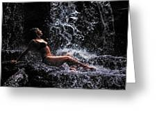Bliss. Anna At Eureka Waterfalls. Mauritius Greeting Card