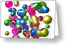 Blobs Of Fun... Greeting Card