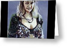 Blonde Bellydancer Greeting Card