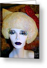 Blonde Fro Greeting Card