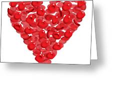 Blood Cells Heart Greeting Card