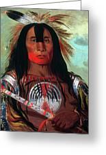 Blood Head Chief, 1832 Greeting Card