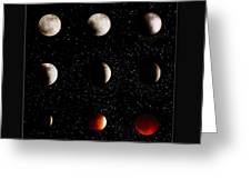 Blood Moon Lunar Eclipse 2014 Color Greeting Card