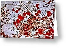 Blood Spatter Greeting Card