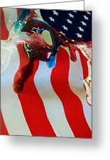 Blood Sweat And Tears Fallen For Freedom Greeting Card