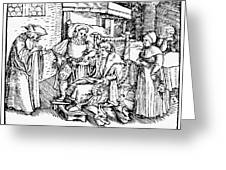 Bloodletting, 1540 Greeting Card