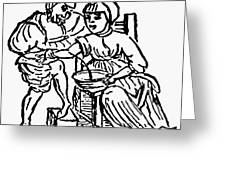 Bloodletting, 15th Century Greeting Card