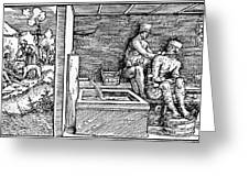Bloodletting, C1500 Greeting Card
