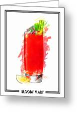 Bloody Mary Cocktail Marker Sketch Greeting Card