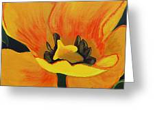 Bloomed Yellow Tulip Greeting Card