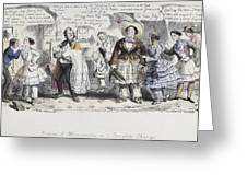 Bloomer Cartoon, C1851 Greeting Card