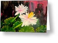 Blooming At Night  Greeting Card