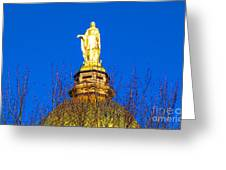 Blooming Golden Dome Greeting Card