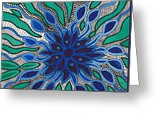 Blooming In Blue Greeting Card