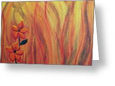 Blooming In Hell 1 Greeting Card