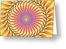 Blooming Seasons Kaleidoscope Greeting Card by Derek Gedney