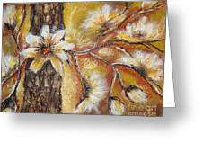 Blooming Tree Greeting Card by Elena  Constantinescu
