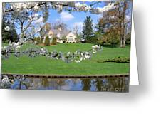 Blossom-framed House Greeting Card