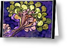 Blossom Of Spring    Purple Greeting Card