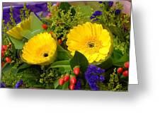 Blossom Yellow Gerbera Greeting Card
