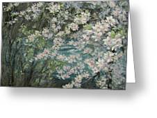 Blossoming River Greeting Card
