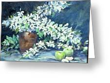 Blossoms And Apples Greeting Card