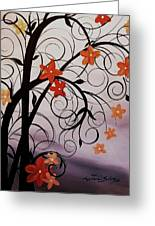 Blossoms Of The Orient Greeting Card