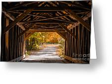 Blow-me-down Covered Bridge Cornish New Hampshire Greeting Card by Edward Fielding