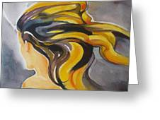 Blowin' In The Wind Greeting Card by Patricia Howitt