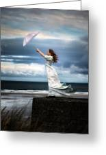 Blowing In The Wind Greeting Card by Joana Kruse