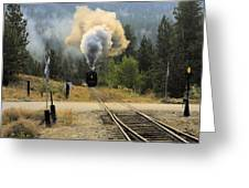 Blowing Off Steam Greeting Card