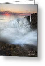 Blowing Rocks Sunrise Explosion Greeting Card by Mike  Dawson