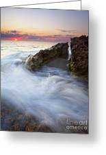 Blowing Rocks Sunrise Greeting Card