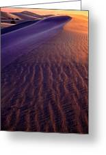 Blowing Sand At Death Valley Greeting Card