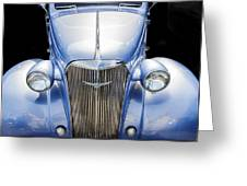 Blue 1937 Chevy Too Greeting Card