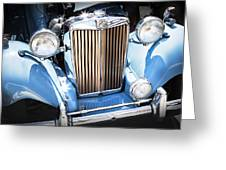 Blue 1953 Mg Greeting Card