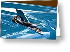 Blue 57 Chevy Bel Air Greeting Card