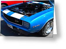 blue '69 Camaro Z28 Greeting Card