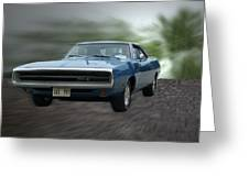 Blue 70 Charger Greeting Card