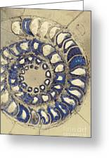 Blue Ammonite Greeting Card