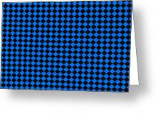 Blue And Black Checkered Pattern Cloth Background Greeting Card